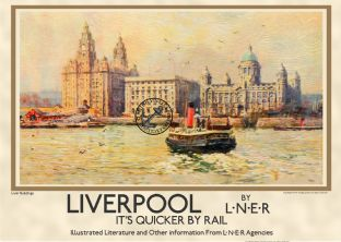Liverpool River Mersey View